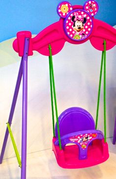 #Minnie Swing for small #children! #toys #juguetes #Feber Little Girl Toys, Baby Girl Toys, Toys For Girls, Real Life Baby Dolls, Baby Alive Dolls, Barbie Doll House, Barbie Dolls, Baby Doll Strollers, Minnie Mouse Toys