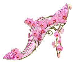 imagined floral shoes, Shoe Fleur.