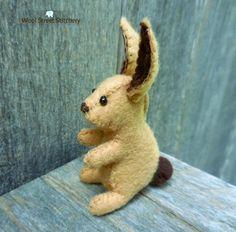 Stuffed bunny rabbit, felt bunny, handmade Easter bunny decoration, soft toy, felt stuffed animal by WoolStreetStitchery on Etsy