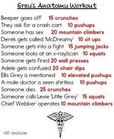 Grey's Anatomy   43 Workouts That Allow You To Watch An Ungodly Amount Of Television