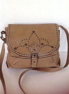 Bag Purse Sparrow True Messenger Crossbody Studded Designer Fashion Hip Chic   eBay