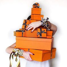 Outfits and Looks, Ideas & Inspiration Hermes boxes - Go to Source - Peony Lim, Hermes Box, Hermes Paris, Hermes Orange, Best Black Friday, Shop Till You Drop, Orange Is The New, Cyber Monday Deals, Orange Crush