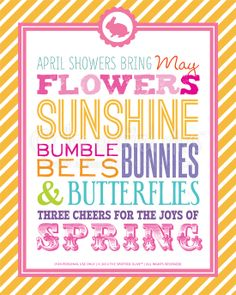 the life and designs of the spotted olive™: {printable freebie} three cheers for spring subway art