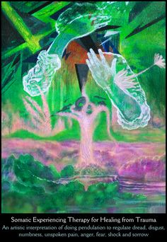 Paintings and Drawings about Healing PTSD with Somatic Experiencing Therapy (Pendulation Article 3)