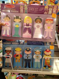 Mix and Match gendered chunky puzzles depicting acceptable stereotypical roles for the sexes: Girls don't get careers.