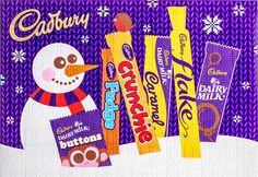 Cadbury Selection Box Santa Claus im Retro-Strickdesign