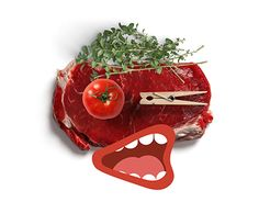 """Check out new work on my @Behance portfolio: """"Meat Poster"""" http://be.net/gallery/54189039/Meat-Poster"""