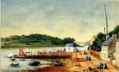 Joseph Uchard  Le port de Bénodet 1886 la petite maison des douaniers  date de 1885
