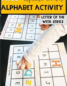 Alphabet Games For Kindergarten, Learning The Alphabet, Alphabet Activities, Math Activities, Preschool Alphabet, Toddler Preschool, Printable Alphabet, Free Printable, Learning Spanish