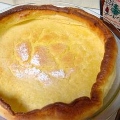Dutch Baby  Dutch Babies I made a savory version - after pretty much cooked I added grated swiss cheese and sauteed mushrooms. YUM.