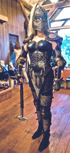 WOMANS FULL SUIT LEATHER ARMOR CELTIC SCA LARP FANTASY | eNay