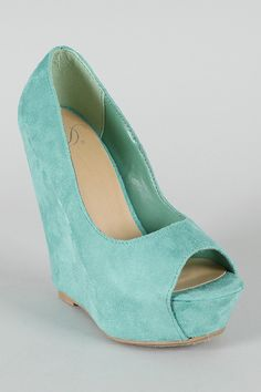 Delicious Mars-S Suede Open Toe Platform Wedge $27.60