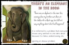 Elephant in the room; idioms, idiomatic expressions; English