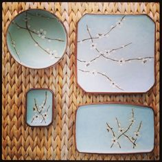japanese tableware - i have the large square platter, plus japanese teapot and cups ans small round plates