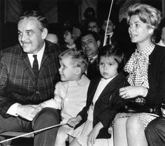 The young princely Family of Monaco at the Clyde-Beatty-Cole Circus in 1961.