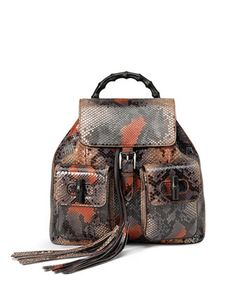 Bamboo Sac Python Backpack, Multicolor by Gucci at Neiman Marcus.