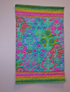 Art quilt Wall hanging FLYING CARPET No 15 by anotherghostquilts