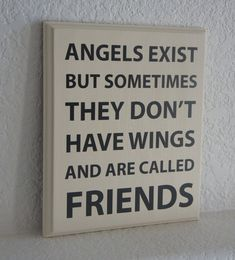Friend Plaque sign #Angels exist but sometimes by Frameyourstory, $27.95