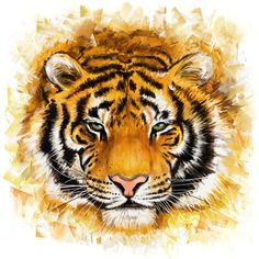 #tiger #painting #print