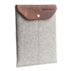 iPad sleeve w/ leather flap grey | Graf & Lantz #fathersday
