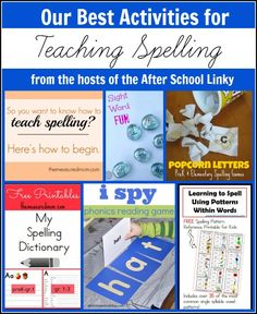 Best Activities for Teaching Spelling from The After School Linky Party Hosts