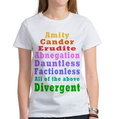 Divergent  Favorite Tee #Divergent #Insurgent #Allegiant #TrisFour t-shirts mugs and more, love these movies!  For all with this design click here - http://www.cafepress.com/dd/105842727