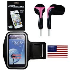 Galaxy S5 SPORT BUNDLE !!! Earbud Headphones With Water Resistant Armband &…