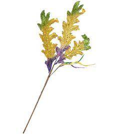 Metallic Mardi Gras Acanthus Leaf Spray Image