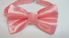 Men's Coral Satin Pretied Bowtie Wedding Prom Special Ocassion by HouseOfJdawn on Etsy