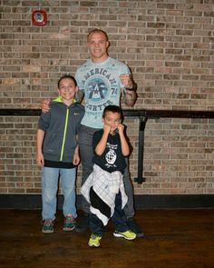 Anthony Smith UFC vet with my son's.
