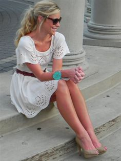 white eyelet. and the bracelet! and the belt!