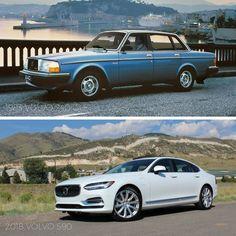 #TBT: 1983 Volvo 240 GLE vs. 2018 Volvo S90