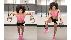 Doing a chest press knee tuck is a TRX move that targets your chest, shoulders, and core.