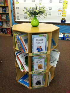 Mrs. Tabb @ First Grade Awesomeness  love this piece  love the author study displays