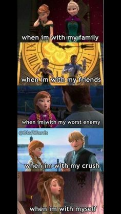 Pretty much yeah, except my family is a bunch of disney fanatics so it would be…