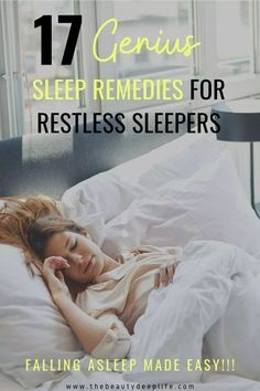 Can't sleep? We've got remedies to help stop insomnia and end those restless anxiety-filled nights! Tips with essential oils, nightly self-care routines, for bedroom environment and more! How To Sleep Faster, Sleep Better, Insomnia Remedies, Cant Sleep Remedies, Deeper Life, Sleep Solutions, Healthy Sleep, Natural Sleep, Sleepless Nights