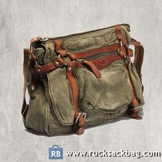 Canvas Shoulder Bags for Men Leather Canvas Bag Color: Green Material: Canvas Size: 14.9*10.6*4.3 inch Closure: Zipper Pocket:  Cellphone pocket, zipper pocket How to Wash a Backpack
