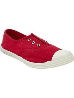 Womens Slouchy Canvas Sneakers