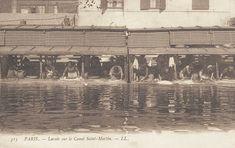#photo Lavoir sur le canal St-Martin vers 1900 #Paris10 #PEAV @Menilmuche @ParisHistorique @Mademoiselle Titam @aubordducanal @Merle_teigneux