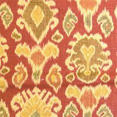 Namaste Cliffside Chili Ikat Print Drapery Fabric by Swavelle Mill Creek - 37025 - www.buyfabrics.com