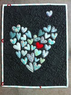 heart quilt @Chris Cote Cote Cote Cote Sneddon this is so you!