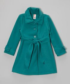 Jade Tie-Waist Peacoat - Girls by Just Kids