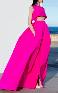 Alex Perry Jule Cuff Gown ~ETS #hotpink
