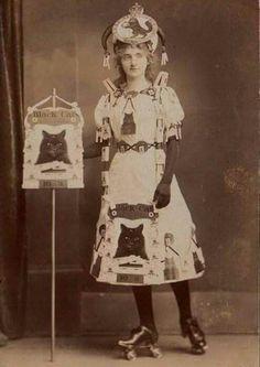 Black cats roller Derby women 1800s