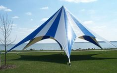 Celina TP Series Pole Tent with Striped Top  52ft Diameter >>> Check out the image by visiting the link.