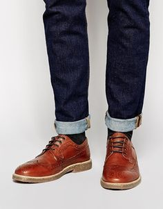 ASOS Brogues in Leather