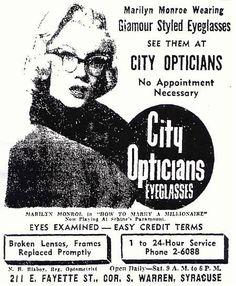 Marilyn Monroe styled glasses!
