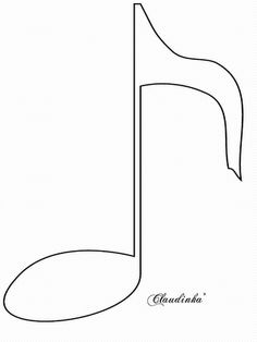 varios moldes mais - Music Note Coloring Pages