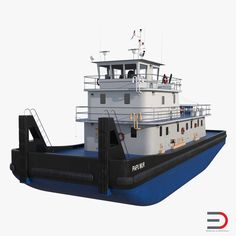 Push Boat Ship 3d model