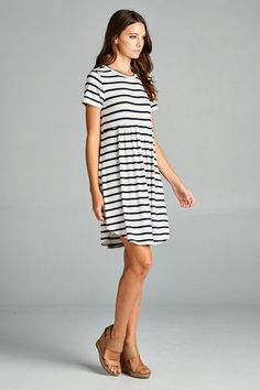 Striped Baby Doll Dress #JessLeaBoutique